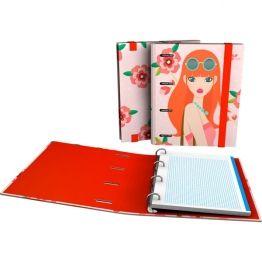 """CarpeBook DIN-A4 Archivador de la colección Noa y su serie """"Flores"""" 2017. Fabricada y distribuida por #Grafoplas del Noroeste S.A.  #papelería #materialescolar #papeleríabonita #diseño"""