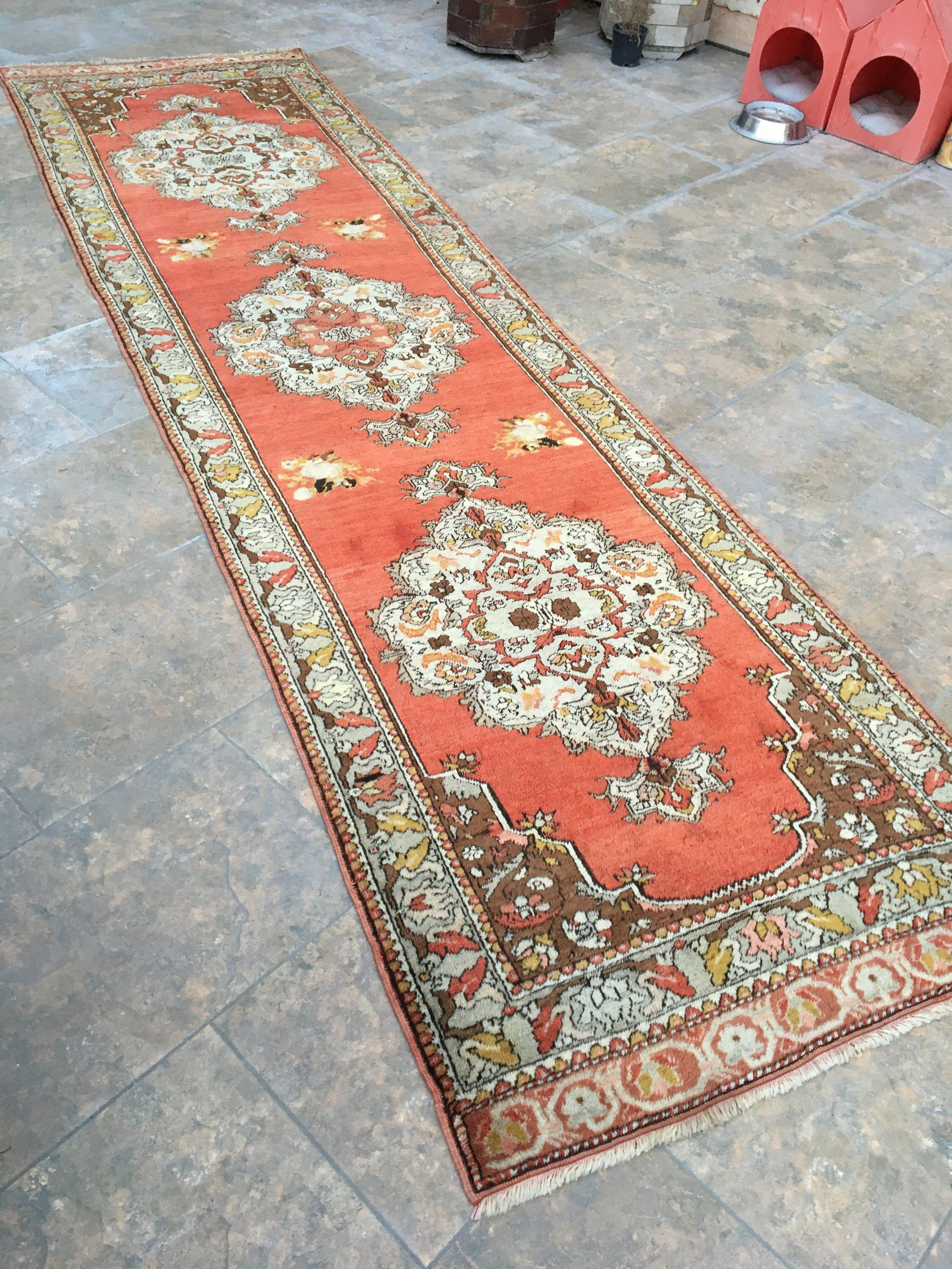 Antique Rug Rugs Runner Turkish Runner Rug Vintage Rug Runner Hand Knotted Wool Runner Rug 12 Ft Long Runner Rugs 3 48 X12 76 Feet 2020