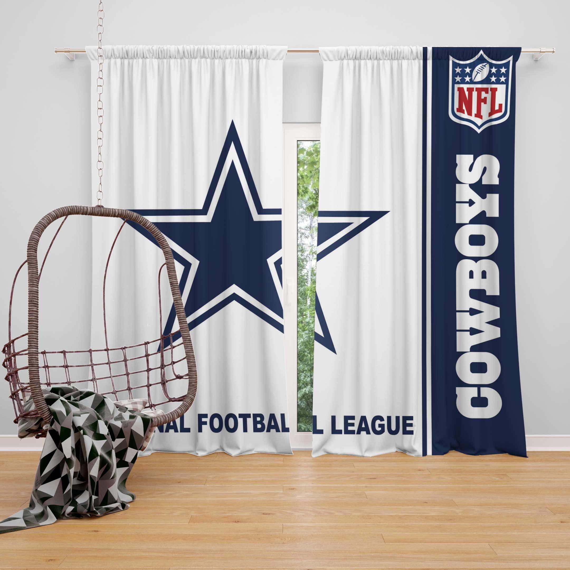 NFL Dallas Cowboys Bedroom Curtain In 2019