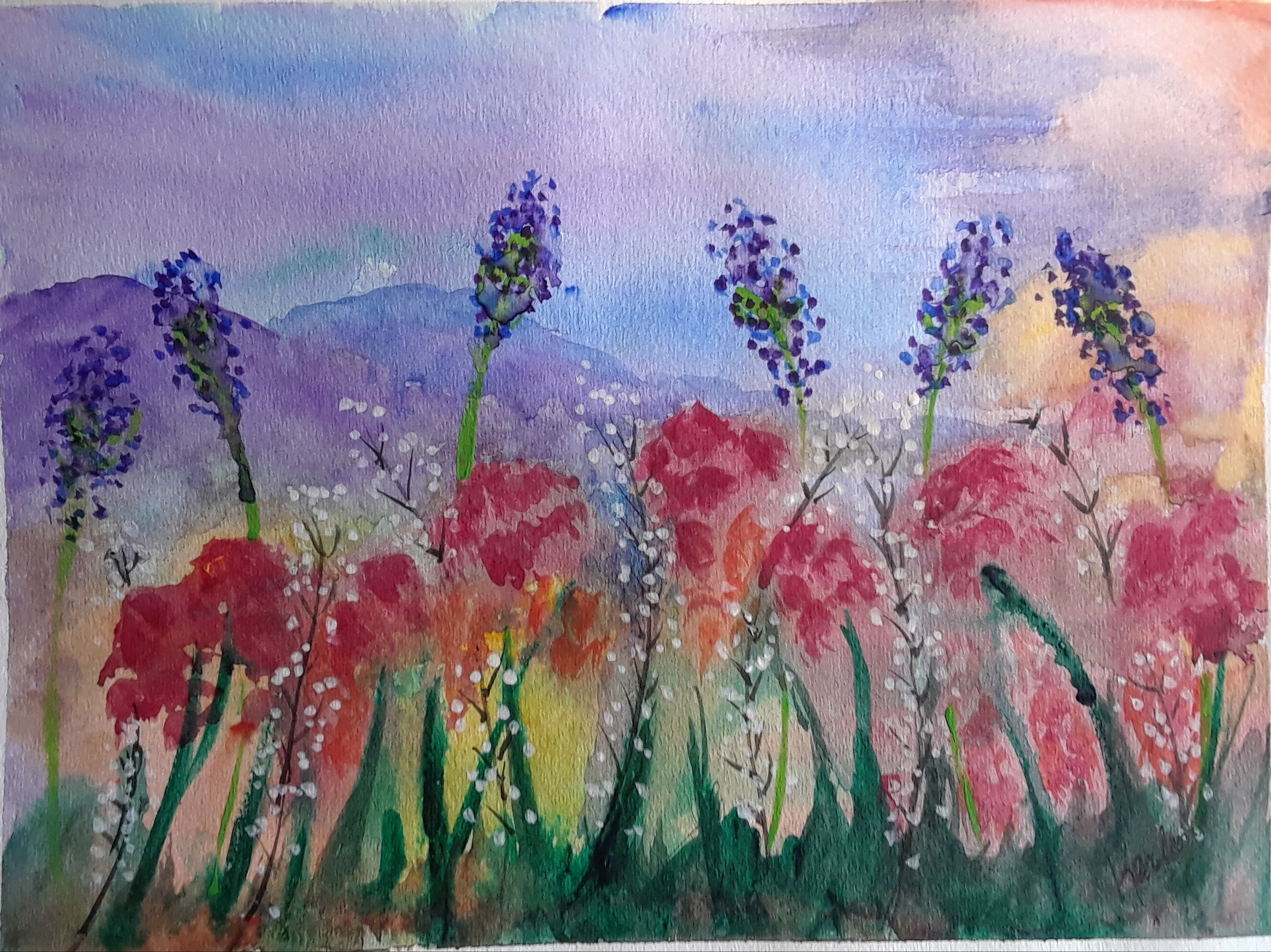 Sweet Summer Is A Watercolor Painting Done On Good Quality