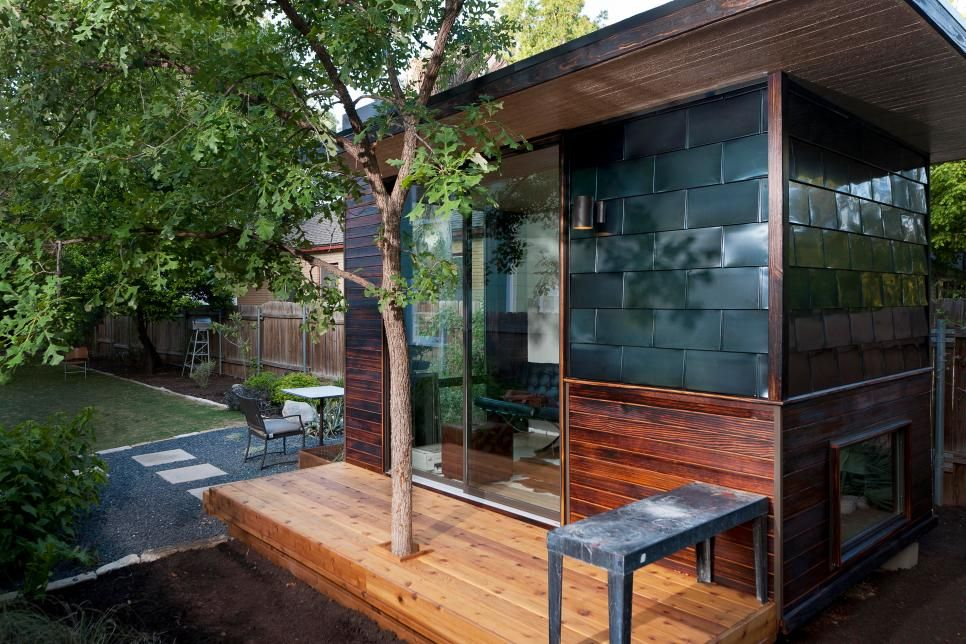 tiny backyard home office. Tiny Backyard Home Office With Deck And Table H