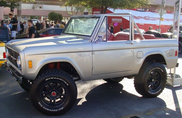 Classic Silver Ford Bronco Top Off Ford Bronco Classic Ford