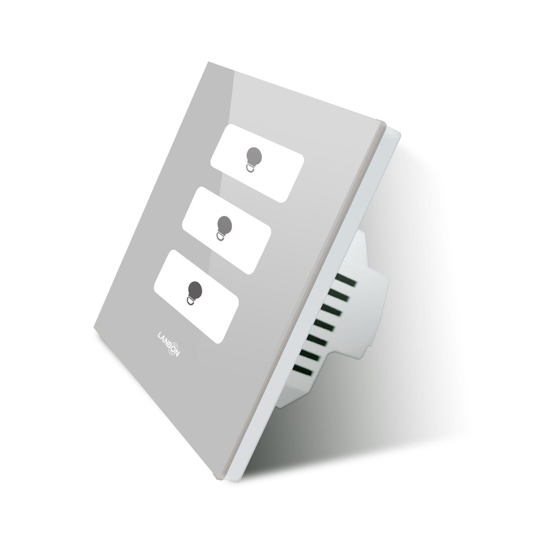 Lanbon Wireless Switch 3 Gang 2 Way 3 Way Wifi Remote Control Switch On Off Wall Light Switch Iot Google Home Voic Wireless Switch Smart Switches Voice Control