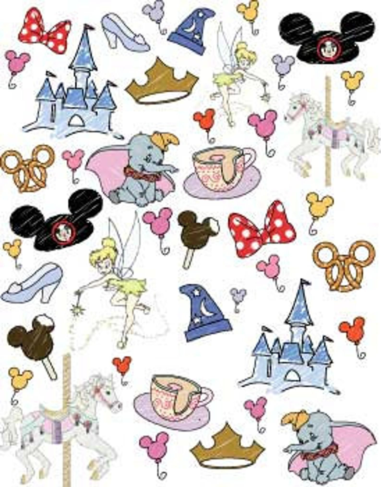 PREORDER Disney World Favorite Things Doodle Fabric