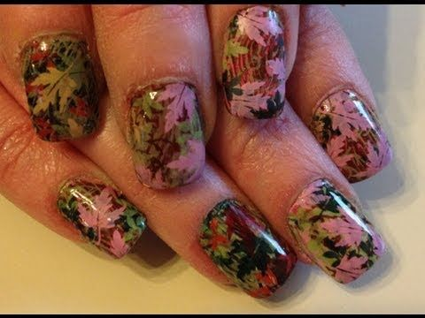 mossy oak camo nails - diy tutorial