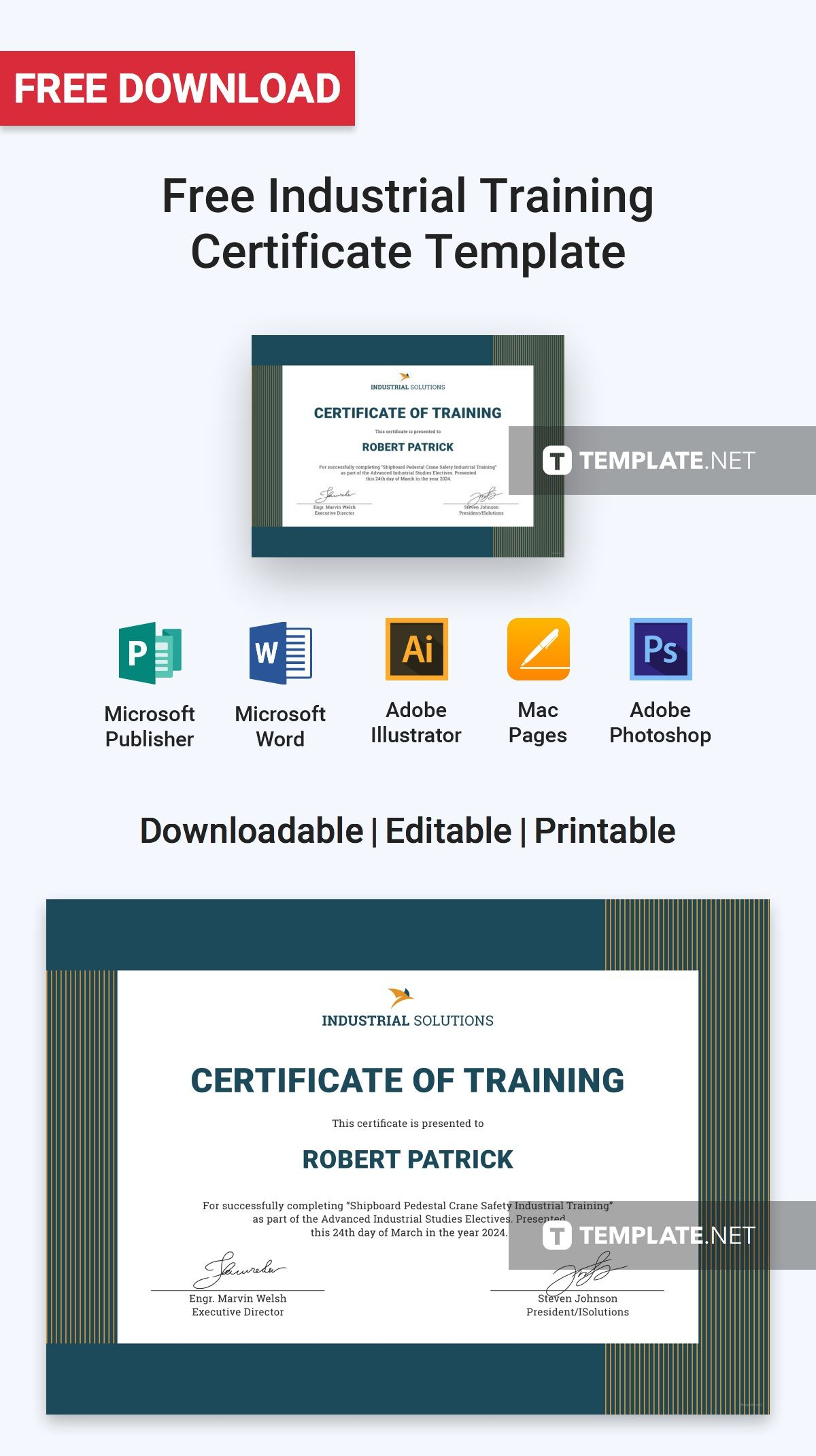 Free industrial training certificate training certificate free industrial training certificate training certificate certificate and template yadclub Gallery