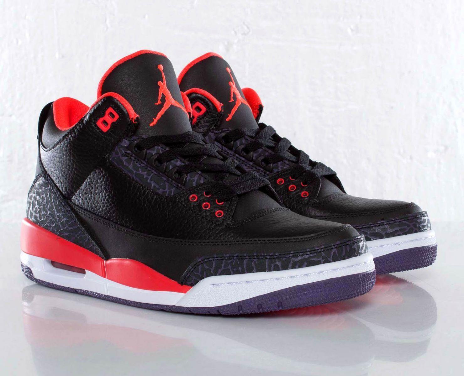 Air Jordan Retro 3 Damier Rouge Et Blanc