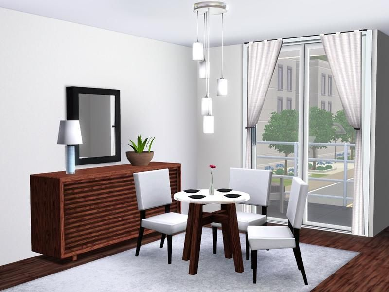 A Contemporary Dining Room With A Touch Of Modern. The Stylish Furniture  Makes For An