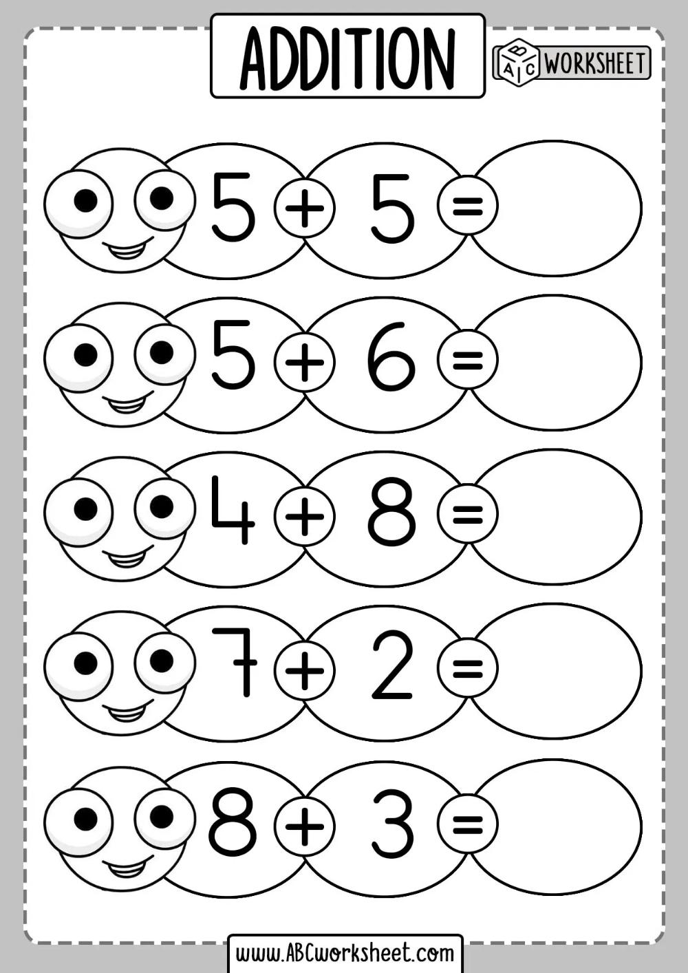 Addition Sums For Grade Kids Worksheet   Addition worksheets [ 1414 x 1000 Pixel ]