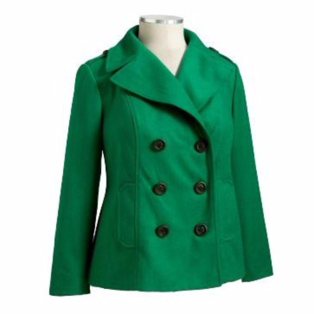 Old Navy Green Wool Blend Pea Coat Size Xl Tall  ecc5149af