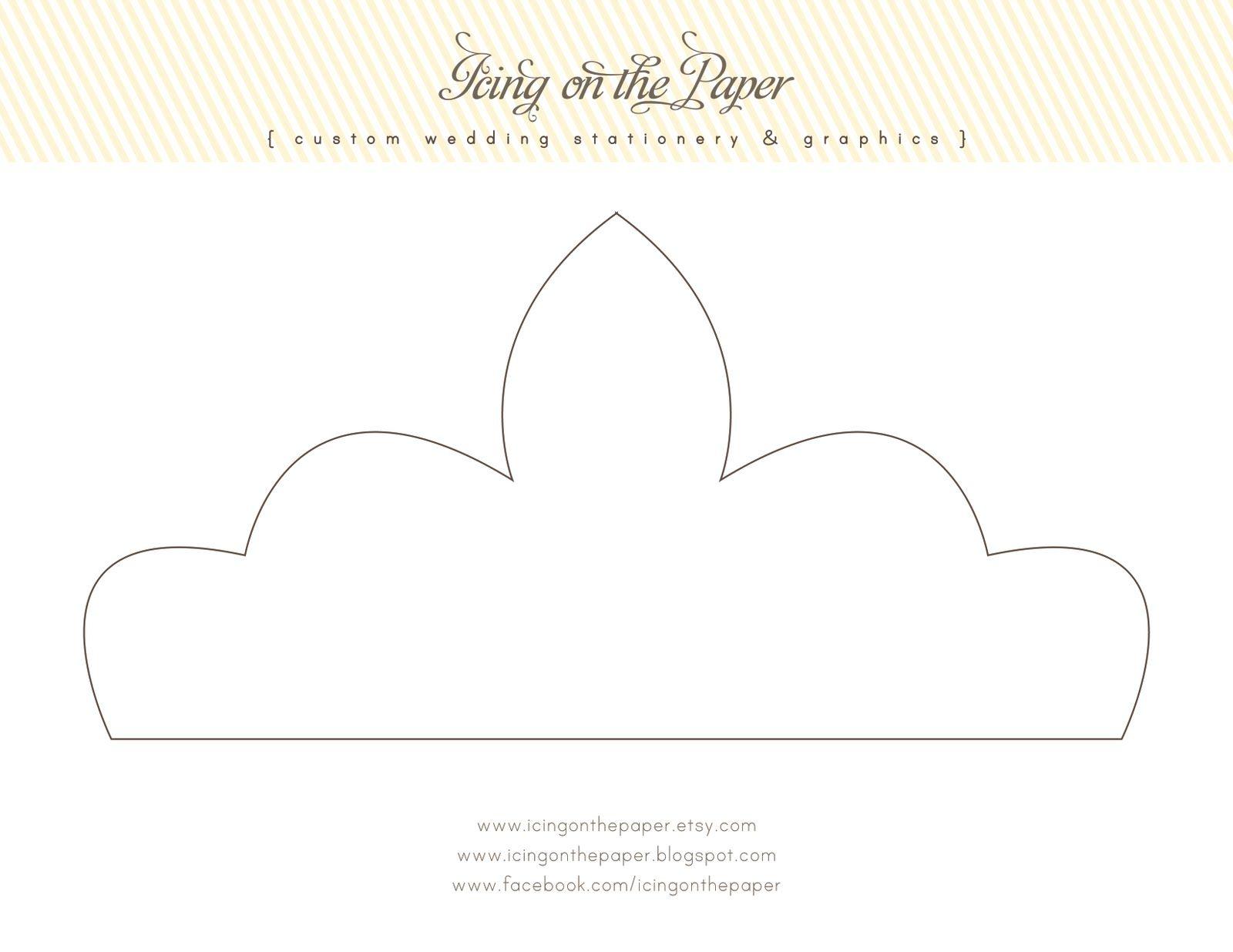 Free Printable Tiara Crown Template Diy Tiara Diy Crown