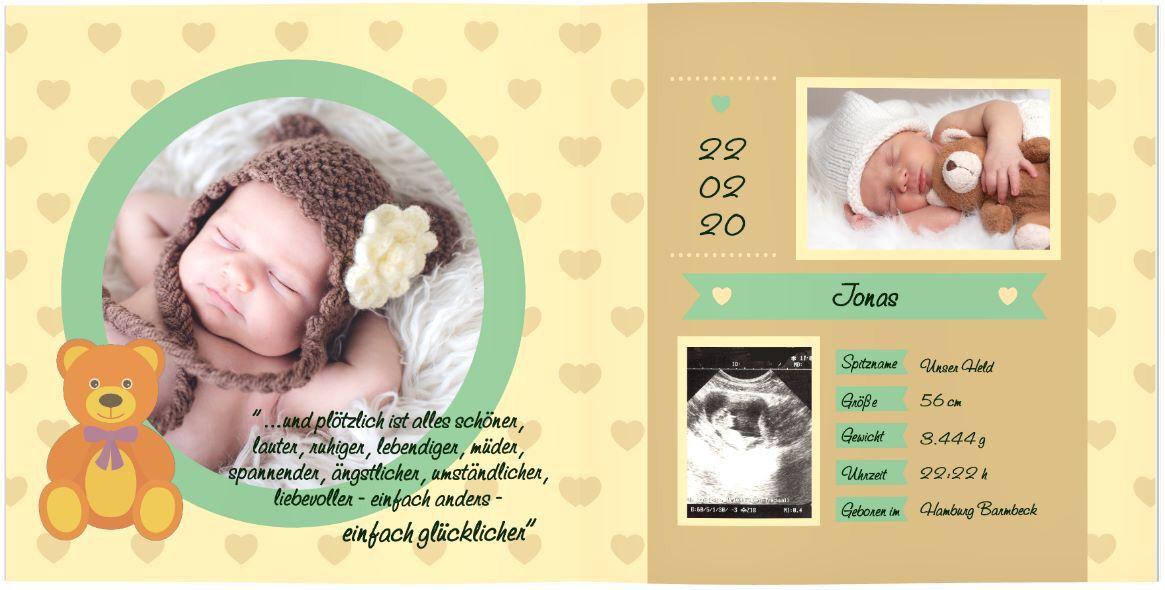 Babys Ersten Jahre Designvorlagen Fotobuch Baby Babybuch