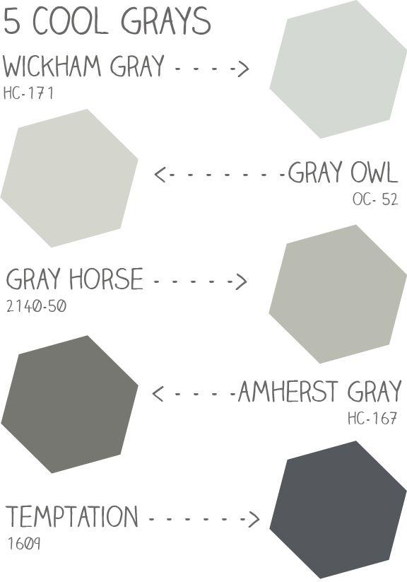 5 Cool Benjamin Moore Grays Wickham Gray Gray Owl Gray