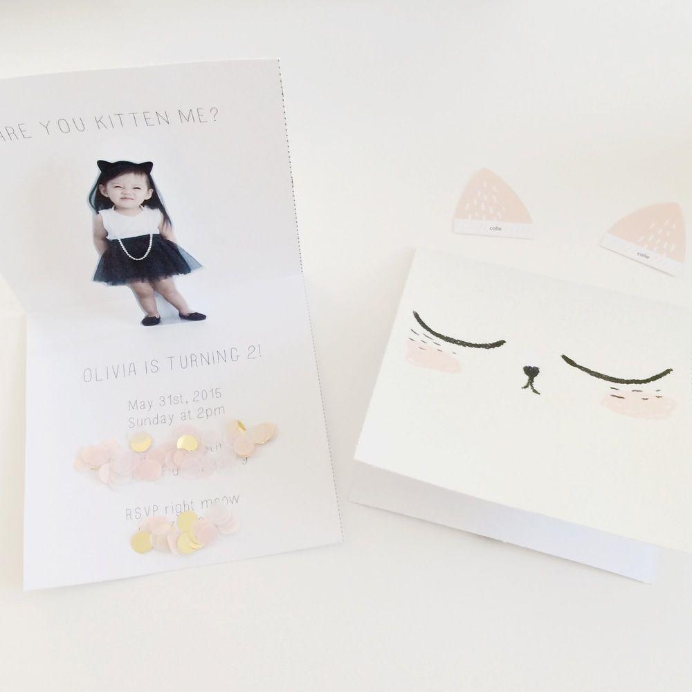 Diy Are You Kitten Me Invitation Meethaha Birthday Party Invitations Diy Cat Themed Birthday Party Kitten Invitations