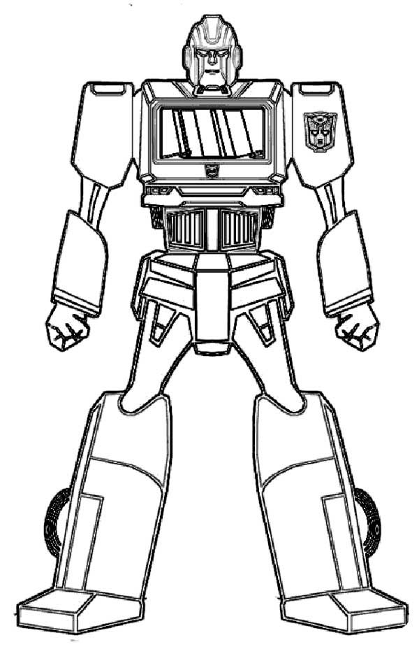 Ironhide Transformers Coloring Page