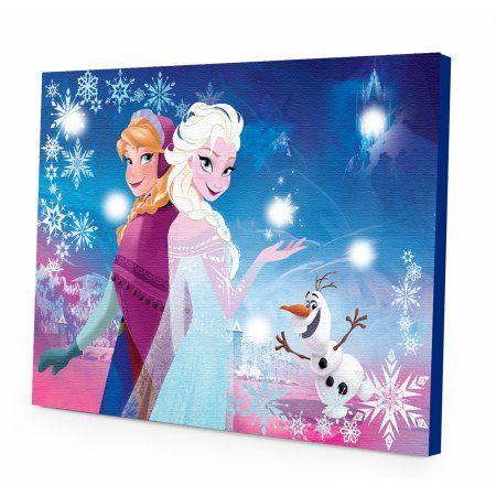 Disney Frozen Light Up Canvas Wall Art With Bonus Led