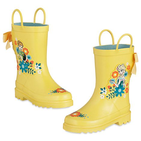 Anna and Elsa Rain Boots for Kids