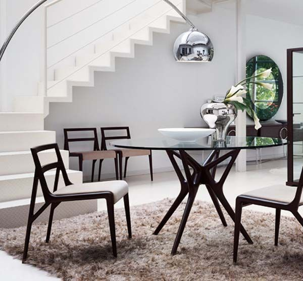Chairs Astounding And Beautiful Modern Round Dining Table With