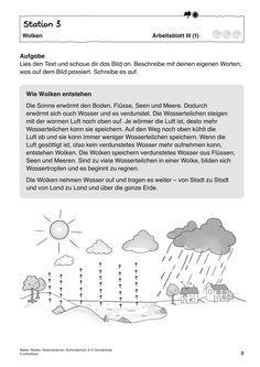 Bildergebnis für wolken grundschule arbeitsblätter | Waldtag ...