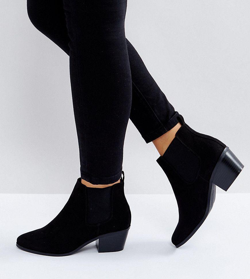 5b11ee4d803 ASOS REVIVE Wide Fit Chelsea Ankle Boots - Black