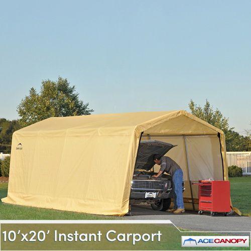 Carport Autoshelter 10x20 Instant Garage Sandstone Portable Garage Instant Garage Carport