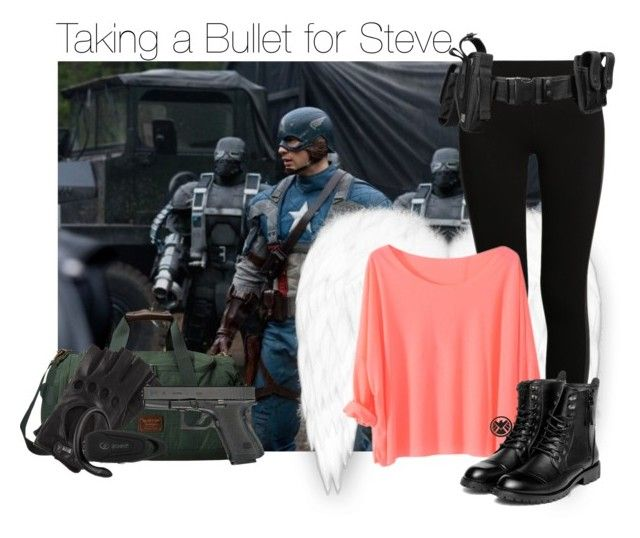 """""""Taking a Bullet for Steve"""" by thatweirdgirlkris ❤ liked on Polyvore featuring moda, NIKE, yeswalker, Burton e Roeckl"""
