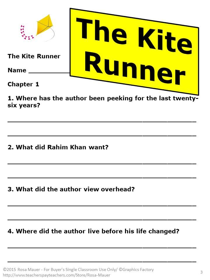 the kite runner novel study comprehension questions kites and  the kite runner novel study