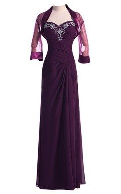61963a8ac14 Sweetheart Chiffon Gown With Matching Jacket