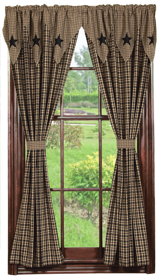 Drapes window treatments treatments i am interested for Primitive country living room curtains