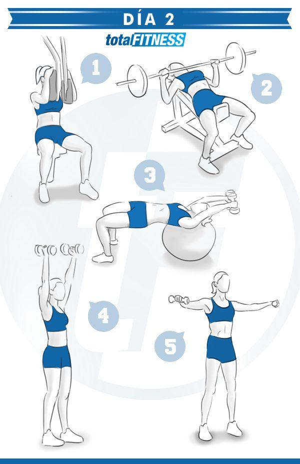 Plan de entrenamiento de 5 d as para chicas rutinas y ejercicios pinterest gym workout - Plan de entrenamiento en casa ...