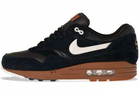 nike air max 1 shoes - black-sail-hazelnut