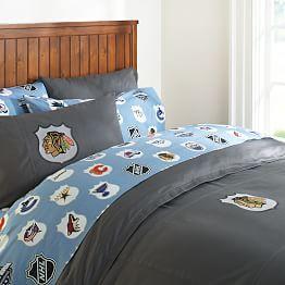 NHL® Bedding, Ice Hockey Bedding U0026 Hockey Bed Sheets | PBteen
