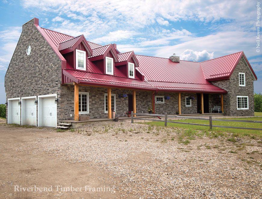 farmhouse inspired timber frame home custom design riverbend timber framing