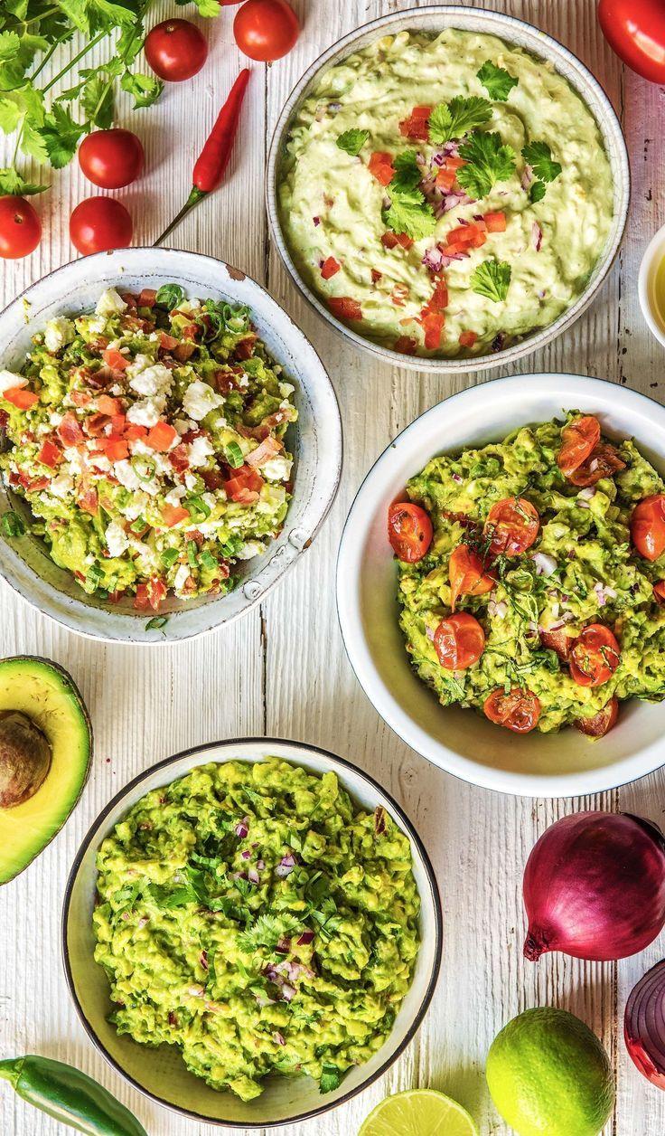 For avocado lovers: Guacamole x 4  - Perfekte Vorspeise | Rezepte & Ideen -