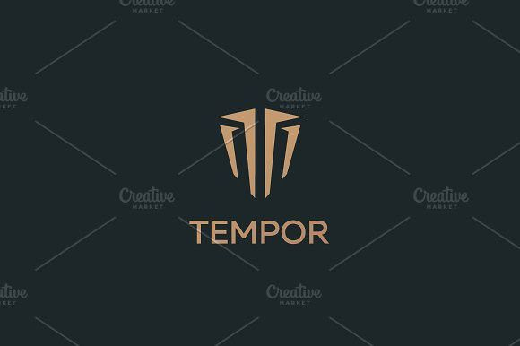 Abstract line shield universal solid logo design. Luxury business icon. Game protection helmet security vector logotype. Letter T symbol. Logo Templates