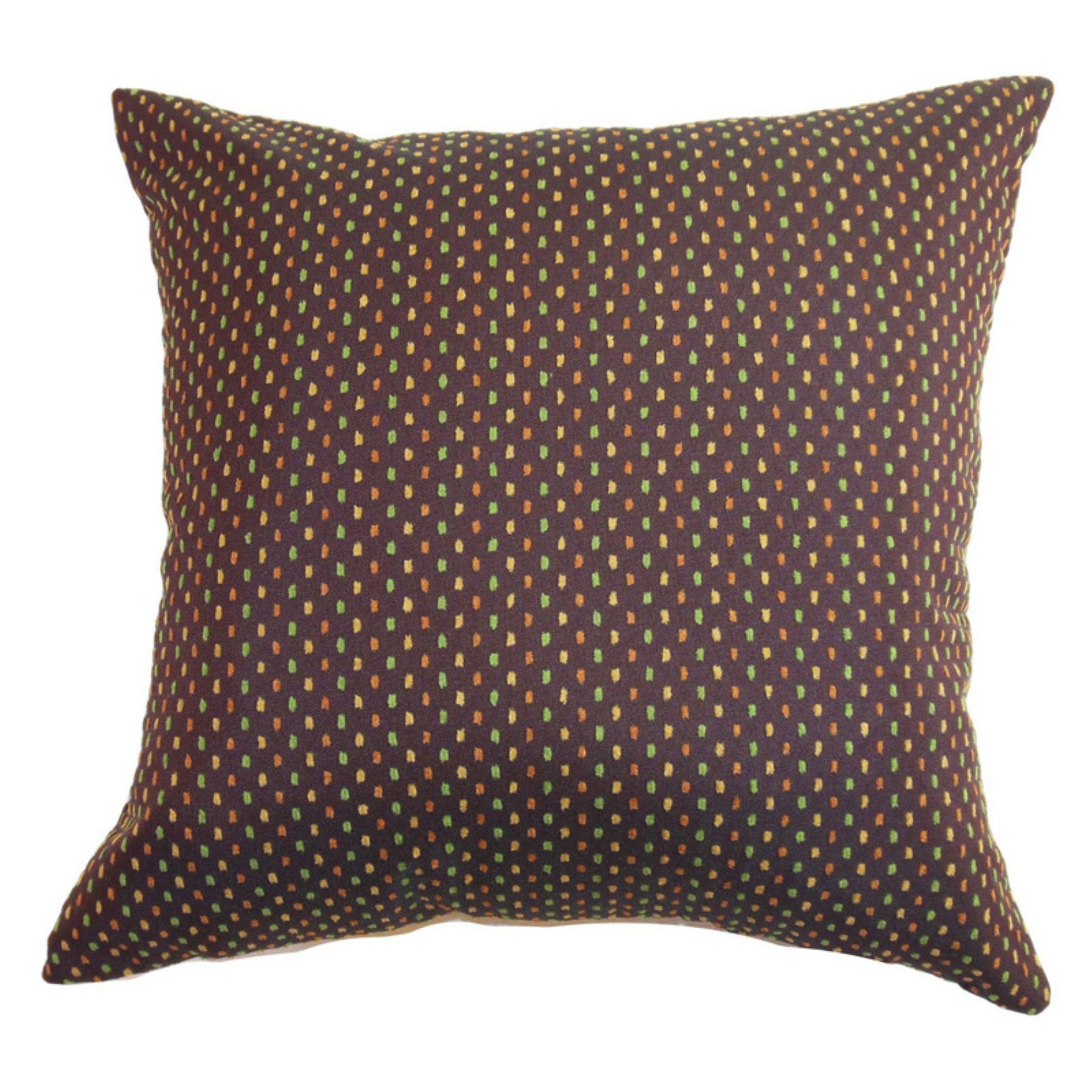 The Pillow Collection Landon Dots Pillow - Brown - P18-MVT-1002-BROWN-C50P50