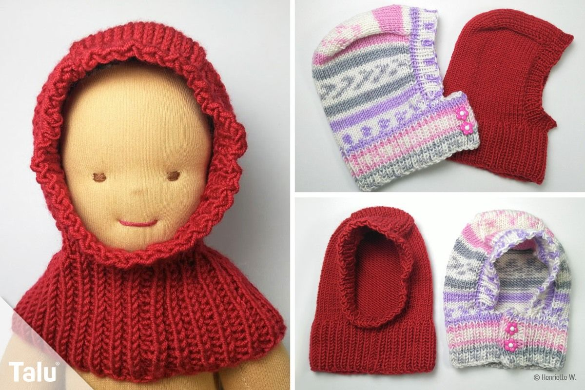 Photo of Knit scarf cap for babies – free instructions for beginners – Talu.de
