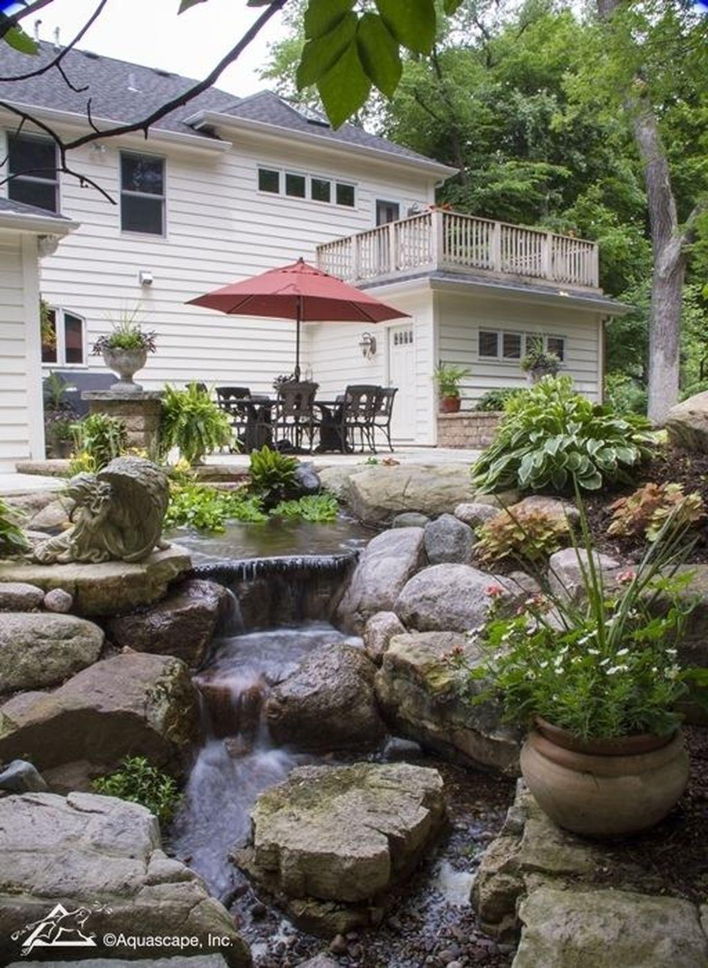 30+ Stunning Garden Pond Waterfall Design Ideas (มีรูปภาพ ...