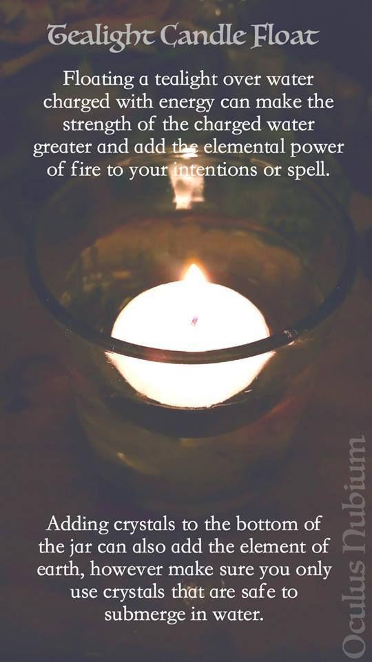 Tea Light Candle Float Witchcraft SpellsMagic
