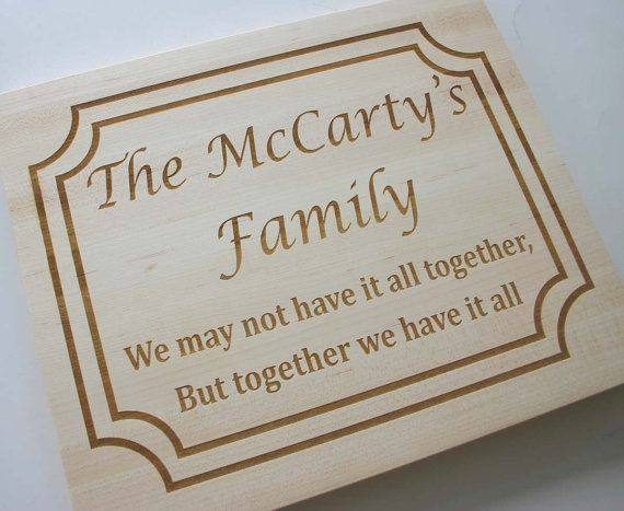 Personalized Maple Cutting Board Etched Cutting Board Laser