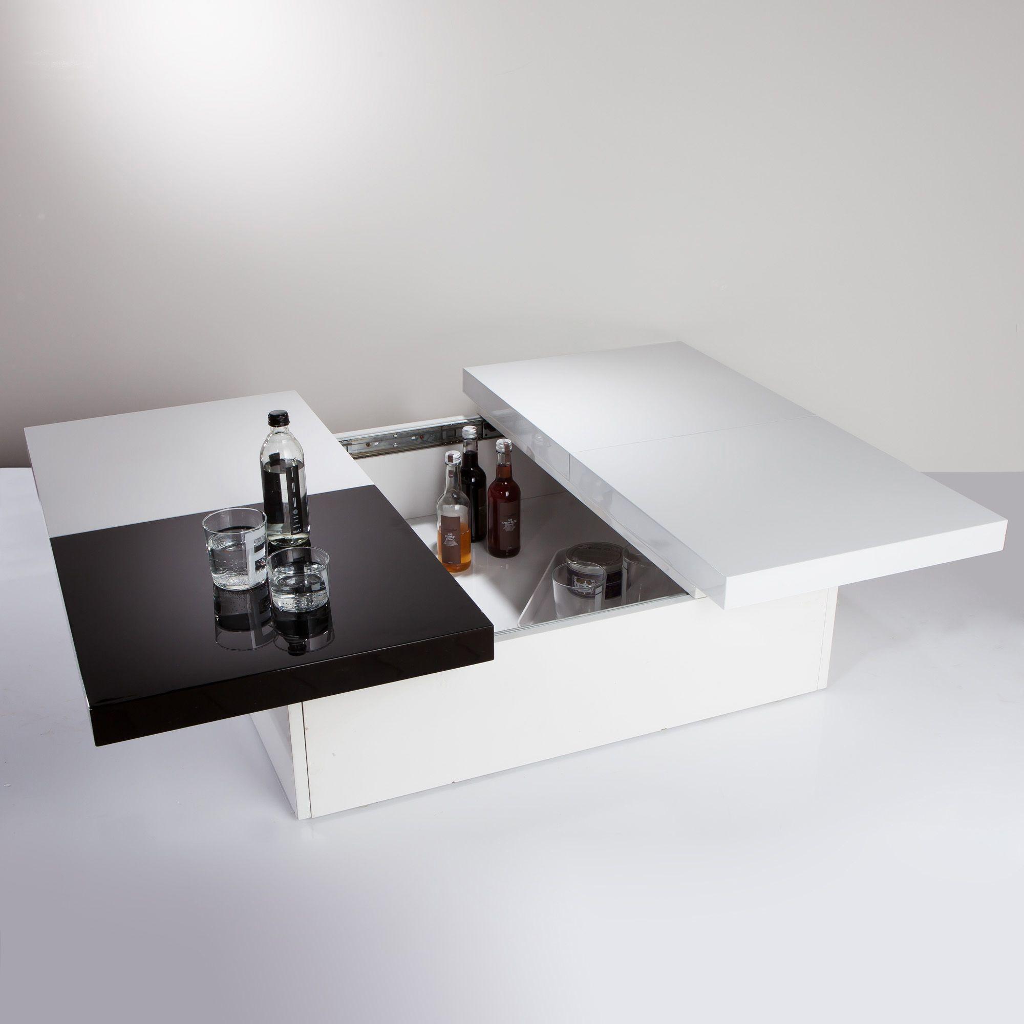 Rangement Niche De Table Coulissante 3 Glosse Basse Avec Suisses R4j3ALqc5