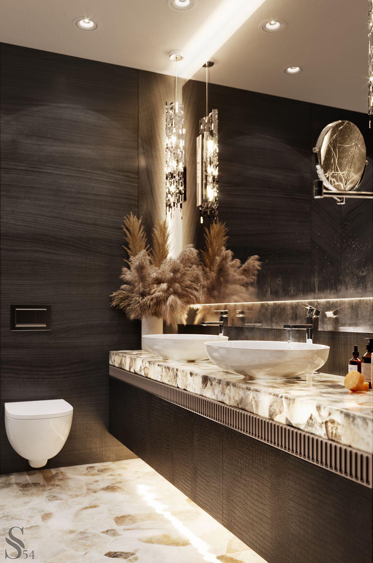 Apartment In Kiev On Behance In 2020 Bathroom Decor Apartment Bathroom Interior Design Luxurious Bedrooms