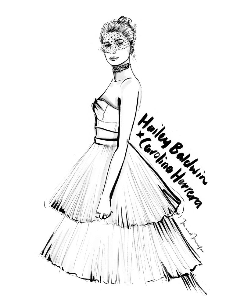 hailey baldwin illustration metgala haileybaldwin jenandjennifer Met Gala 2014 hailey baldwin illustration metgala haileybaldwin jenandjennifer