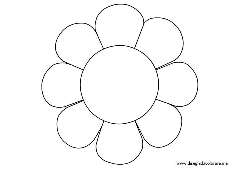 Disegno Fiori Da Colorare Con Google Disegno Di Un Fiore: Stencil Fiori Stilizzati Da Stampare