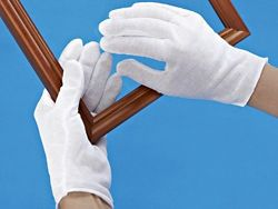 """Cotton Inspection Gloves - Light Weight, 9"""", Ladies' S-7892L"""