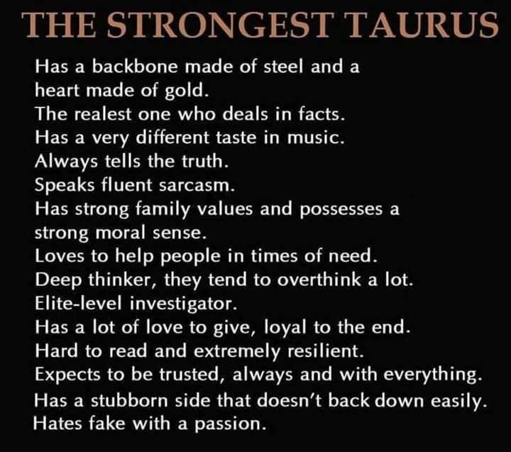 tauruss horoscope personality