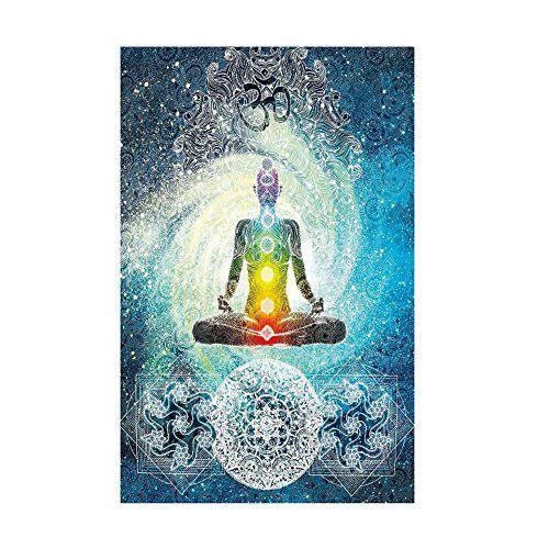 Patgoal Indian Tapestry Yoga Decor Zen Wall Meditation Hippie Tapestry  Hanging Dorm Bedroom Living Room Decorations