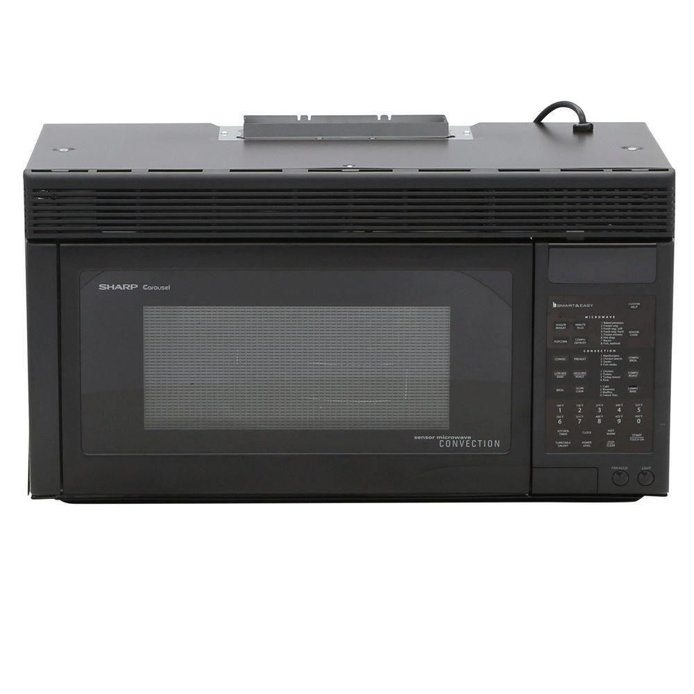 Sharp 1 Cu Ft 850 Watt Over The Range Convection Microwave Oven In