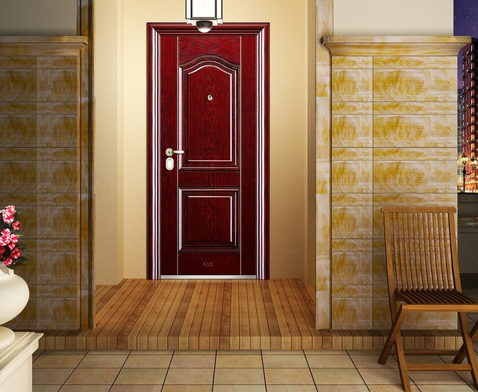 Red Interior Doors Red Door And Wall Design Villa Outdoor Wood