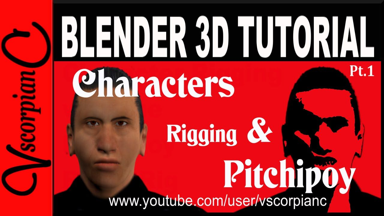 Blender3d character pitchipoy rigify rig is an advance rig